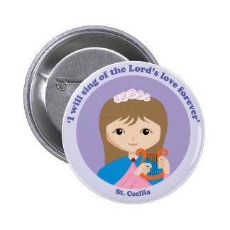 St. Cecilia Pinback Button