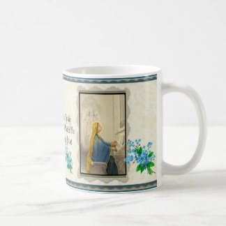 St. Cecilia Prayer Forget-me-not Coffee Mug