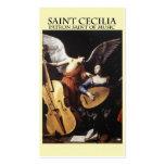 St Cecilia, santo patrón de la música Tarjetas De Visita