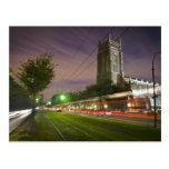 St Charles Avenue Streetcar at Night Postcard