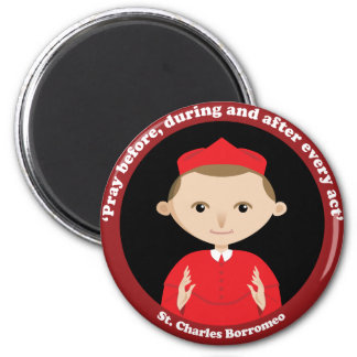 St. Charles Borromeo 2 Inch Round Magnet
