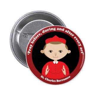 St. Charles Borromeo Pinback Buttons