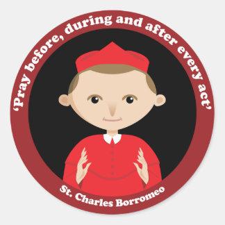 St. Charles Borromeo Classic Round Sticker