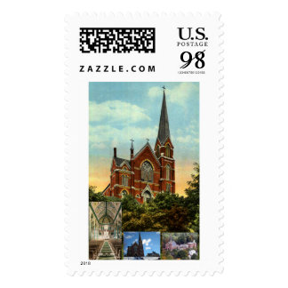 ST. CHARLES CHURCH, BELLOWS FALLS, VT STAMP