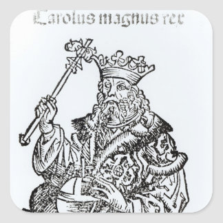 St. Charles  from 'Liber Chronicarum' Square Sticker