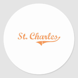 St. Charles Illinois Classic Design Classic Round Sticker