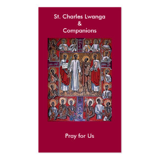 St. Charles Lwanga & Companions Prayer Card Double-Sided Standard Business Cards (Pack Of 100)