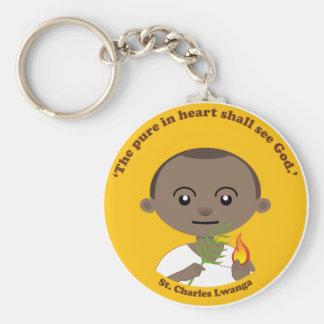 St. Charles Lwanga Basic Round Button Keychain