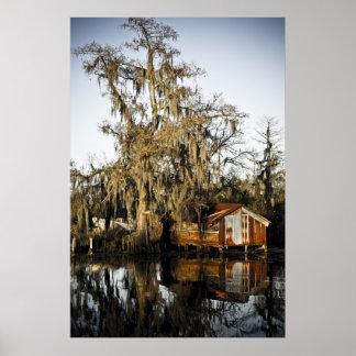 St Charles Parish Swamp Reflections Poster