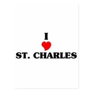 ST. Charles Pink Girl Postcard