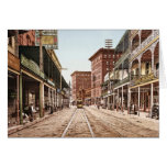 St. Charles Street New Orleans 1900 Greeting Card