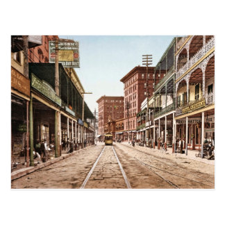 St. Charles Street New Orleans Retro 1900 Postcard
