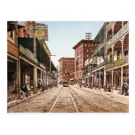 St. Charles Street New Orleans Vintage 1900 Postcard