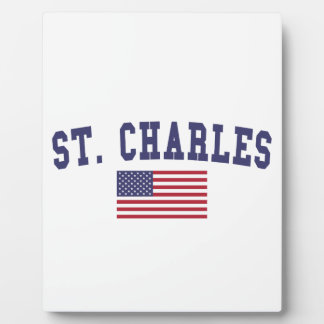St. Charles US Flag Plaque
