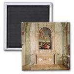 St. Christina Altarpiece 2 Inch Square Magnet