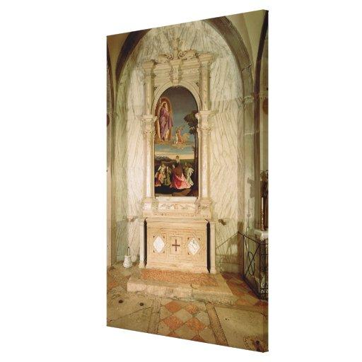 St. Christina Altarpiece Canvas Print