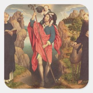 St Christopher, 1484 Pegatina Cuadrada