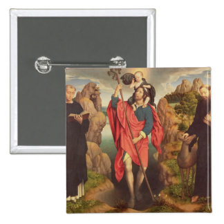 St. Christopher , 1484 Pinback Button