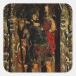 St Christopher, 1597 Pegatinas Cuadradases Personalizadas