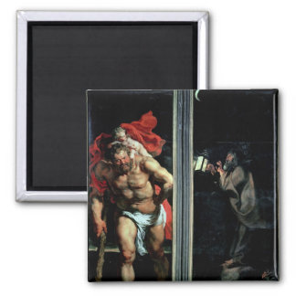 St. Christopher and the Hermit Refrigerator Magnet