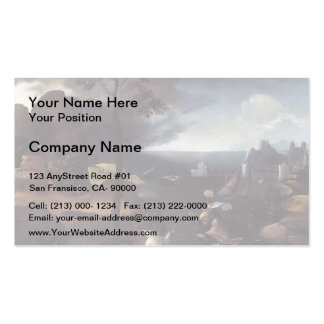 St. Christopher Bearing Christ by Joachim Patinir Business Cards