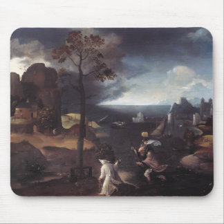 St. Christopher Bearing Christ by Joachim Patinir Mouse Pad