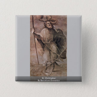 St. Christopher By Beccafumi Domenico Pinback Button