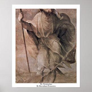 St. Christopher By Beccafumi Domenico Poster