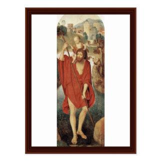 St. Christopher By Memling Hans Postcard