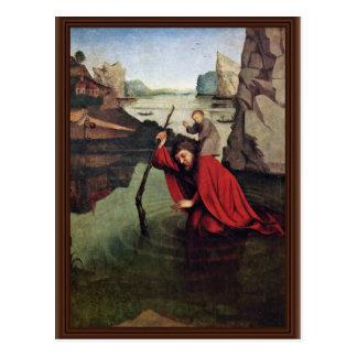 St Christopher By Witz Konrad Best Quality Postcard