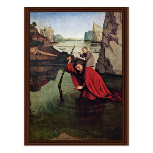 St. Christopher By Witz Konrad (Best Quality) Postcard