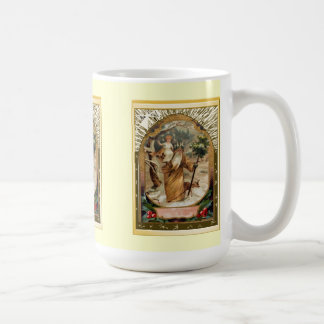 St Christopher carrying the child Jesus Coffee Mug