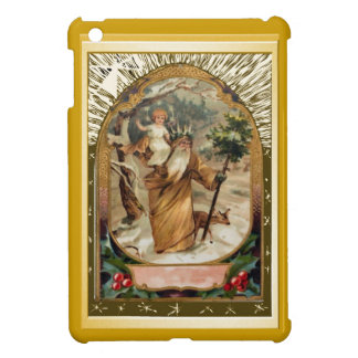 St Christopher carrying the child Jesus Cover For The iPad Mini
