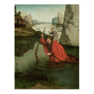 St. Christopher Carrying the Christ Child Postcard