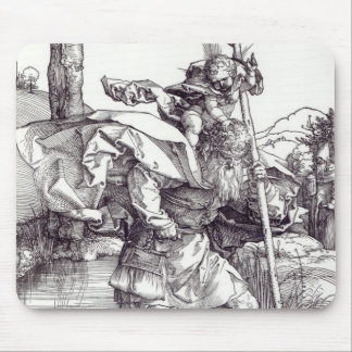 St.Christopher carrying the Infant Christ, 1511 Mouse Pad