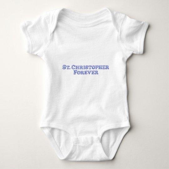 St. Christopher Forever - Bevel Basic Baby Bodysuit
