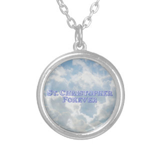 St. Christopher Forever - Bevel Basic Silver Plated Necklace