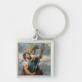 St. Christopher..keychain Silver-Colored Square Keychain