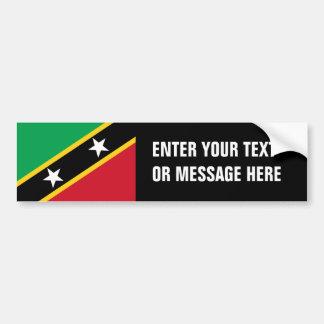 St. Christopher Nevis Flag Bumper Sticker