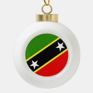 St. Christopher Nevis Flag Ceramic Ball Christmas Ornament