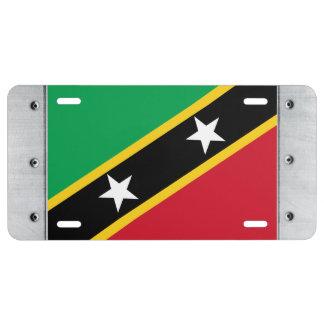 St. Christopher Nevis Flag License Plate