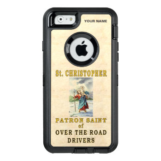 St. CHRISTOPHER  (Patron Saint of OTR Drivers) OtterBox Defender iPhone Case