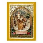 St Christopher que lleva al niño Jesús Postales