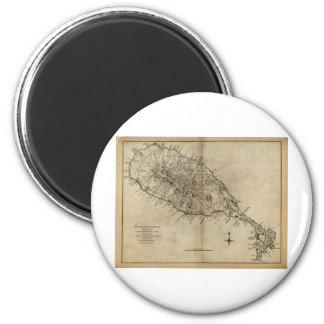 St. Christopher (St. Kitts), Caribbean Map 2 Inch Round Magnet