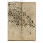 St. Christopher (St. Kitts), Caribbean Map Greeting Card