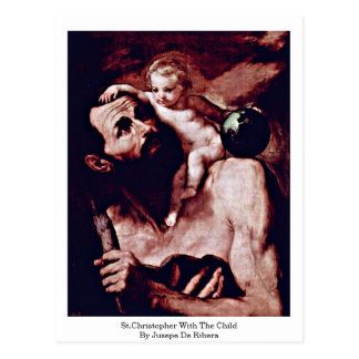 St.Christopher With The Child By Jusepe De Ribera Postcard