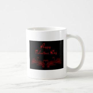 St. Cisnes felices del el día de San Valentín del  Tazas De Café
