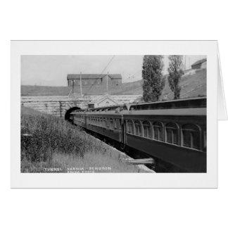 St. Clair River Tunnel - Vintage Louis Pesha Card