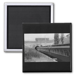 St. Clair River Tunnel - Vintage Louis Pesha 2 Inch Square Magnet