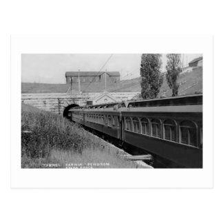 St. Clair River Tunnel - Vintage Louis Pesha Postcard